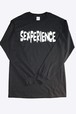 SEXPERIENCE black ロング袖リブTシャツ