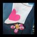 Graffiti Socks -PINK HEART-