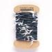 オリジナル引き揃え毛糸021 インディゴ×ホワイト 濃