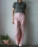 light pink high waist wool pants
