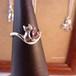 しっぽがくるんハートカット猫の指輪