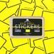 EGGSHELL STICKERS YELLOW LINE BORDER 80pcs