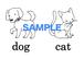 【超お得!】Animals 絵+英単語 フラッシュカードデータ(白黒)