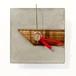 木とコンクリートの壁掛け時計