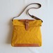 Paraffin canvas messenger bag MUSTARD