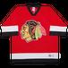 """Logo 7 Chicago Blackhawks"" Vintage Hockey Shirt Used"