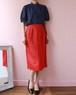 CHANEL linen pencil skirt