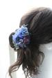 矢車草と紫陽花の青い髪飾り no.1829
