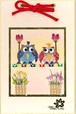 【フクロウシリーズ】押し花ミニ壁掛け