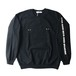 LABRAT body piercing sweat shirt 黒サイズL