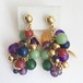 colorful grape earring[e-749]