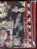 ビビッド柄布とパーツのセット