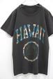 1980's ハワイ大学 花柄カレッジプリントTシャツ 黒 実寸(XS位) HAWAII