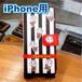 iPhone用こにゅうどうくん手帳型スマホカバー(縦縞白黒)