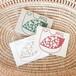 手すき紙のミニグリーティングカード・鳥