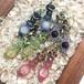 天然石のマクラメ編みピアス&イヤリング/花瓶