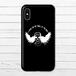 #002-005 iPhoneケース スマホケース iPhoneXS/X おしゃれ セール Xperia iPhone5/6/6s/7/8 ドクロ メンズ Galaxy ARROWS AQUOS タイトル:ブラック スカル 作:んご