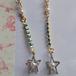 パールと星のキラキラピアス