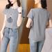 【tops】売り切れ必至 カジュアルラウンドネック 質感のいいTシャツ大人気
