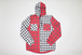 HOODED  CHECK  SH   -REDxWHT-