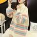 コージー フェミニン フェアリー 清新 大注目 人気 厚手 綺麗系服 トレンド 裏起毛 ハイネック ニット・セーター・トップス