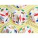 パーティーセット(紙皿・紙コップ/ひし形柄)