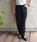 1980's 蔦花刺繍 レーヨンイージーパンツ ブラック