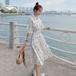 【dress】絶対流行質感のいい シンプル爽やかな印象スウィートシャツワンピース M-0478