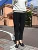 evam eva silk georgette easy pants