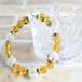 【CROWN Yellow】パワーストーン ブレスレット レディース 天然石 シトリン クラック水晶[送料無料]