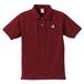 3色KYUSロゴ ポロシャツ(バーガンディー)