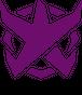 BADFALLロゴステッカー 紫5