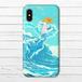 #052-005 iPhoneケース スマホケース 《波間の花嫁》 作:もなか iPhoneX 可愛い ファンタジー おしゃれ かわいい iPhone5/6/6s/7/8 Xperia ARROWS AQUOS