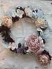 ドールの花飾り ヘアクリップ&リース d-2