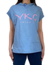 【YKG】フード付きタンクトップ【水色】【新作】イタリアンウェア《M&W》