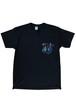 ハナトオジサン 胸ポケT-shirts BLACK