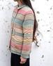 1990's [Ralph Lauren] ネイティブ柄ラグジャケット ターコイズ付コンチョボタン 表記(Women's S) ラルフローレン