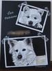 【チョークアート】 フルオーダー ペットの似顔絵 2匹
