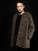 mohair no-collar coat