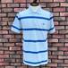 Used Fred Perry Striped Polo Shirt Sax/Blue Medium