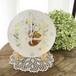 鳥と花と星の陶製掛け時計(1点もの)