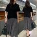 ワンピース マタニティドレス 授乳服 ドット柄 レイヤード 半袖 ロング丈 フレア ゆったり 大きいサイズ 綿 持ち上げる きれいめ カジュアル