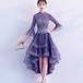 フィッシュテール ドレス チャイナ風 フレア 七分袖 刺繍 スパンコール 結婚式 上品 パーティー(F029)