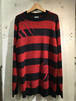 RAKUGAKI TSUMEATO SWEATER Black x Red