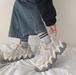 レディース スニーカー ダッドスニーカー 春 新生活 運動靴 デイリー 厚底 レースアップ ローカット スエード 合皮 ハイテクスニーカー ベージュ 灰色 グレー 黒 ブラック 通勤 通学 学生 韓国