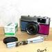 リメイクカメラ OLYMPUS TRIP35(ブルーグレー•ローズ)