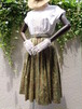 50~60s vintage plant pattern pleats skirt 50~60年代 ヴィンテージ 植物柄 プリーツスカート