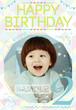 男の子向け誕生日ポスター_4 ガーリー風 B4サイズ