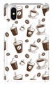 コーヒー カフェ柄 スマホケース iPhoneX