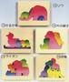木製ハンドメイドパズル「動物5点セット」